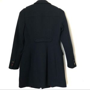 Zara Jackets & Coats - Zara trafaluc Navy Coat wool blend size XS
